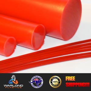 Polyurethane Rod Red 90A (11mm) Diameter x 245mm Long (Engineering Plastic)