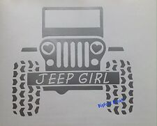 Jeep Girl Decal Heart Headlights Wrangler Sarah Rubicon Vinyl Window Sticker