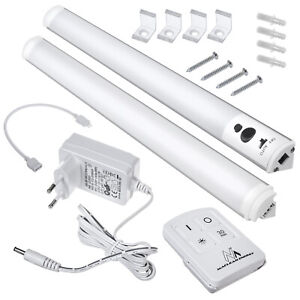 LED Unterbauleuchte Unterschrank Lichtleiste Kaltweiß mit Fernbedienung u. Timer