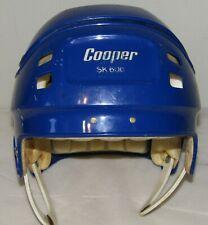 Vintage Rare Cooper SK600 Jr Ice Hockey Helmet Size Junior. Blue