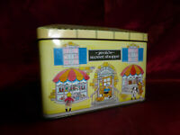 Ye Olde Sweet Shoppe Stanley's Toffee HOUSE SHAPE NOVELTY TIN Food Advertising