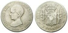 ALFONSO XIII. 2 PESETAS. 1889 * -- ECONOMICA.