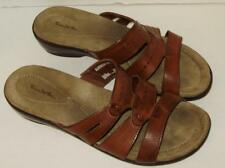 Thom McAn Womens Sandals Size 11M Brown Leather Slide A39