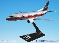 Flight Miniatures UsAir Boeing 737-300 Silver Desk Display Model 1/180 Airplane