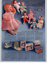 1963 PAPER AD Ideal Doll Thumbelina Pram Suit Pajama Christening
