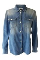 *SEVEN FOR ALL MANKIND* Denim Blue Button Front Shirt (M)