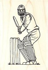 CRICKETER - Wood Mounted Rubber Stamp - Sue Dix/ Personal Impressions