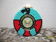 Native American Beaded Army Thunderbird Key chain