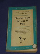 PLASTICS IN SERVICE OF MAN Vintage Pelican 1956 1st ed Book ~ 50s PVC Acrylic
