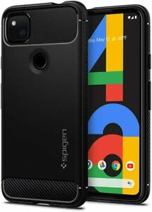 Google Pixel 4a 2020 Case Spigen Matte Black Protective Cover [NOT for 4a 5g]