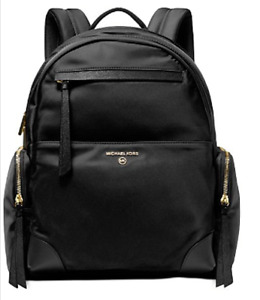 Michael Kors Prescott Nylon Backpack  Black/Gold