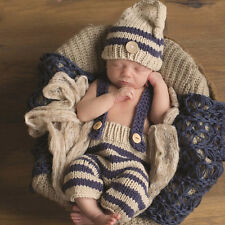 Baby photography Newborn Knit Crochet Clothes Photo Prop outfit Hat Cap
