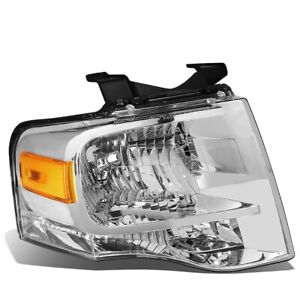 Right RH Headlamp Assembly With Chrome housing fits 2007 2014 Ford Expedition