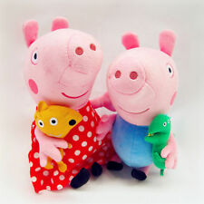 set of 2 Dotty Dress Peppa Pig and George Soft Plush Toy Doll 19cm Sydney stock