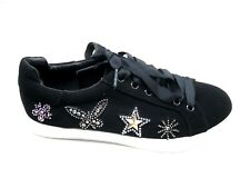 Libby Sam Edelman 7M Cece black velvet sneakers womens rhinestone tennis shoes