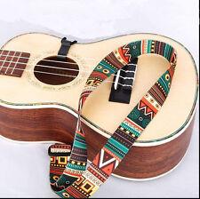 Tissé Ukulélé Strap Nylon Beauté réglable Ukulele  guitare Sling avec crochet