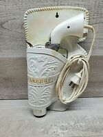 VTG Magnum 357 Revolver Hair Dryer by Jerdon White and Silver Works W/ Holster