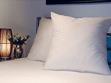 "PAIR OF SQUARE   PILLOWCASES PILLOW CASES 65x 65cm or 25"" x 25""- white"