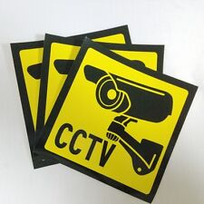 3 PCS Security Warning Signs Stickers Decals for CCTV Surveillance Camera