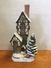 David Winter Cottage The Christmas-Time Clockhouse 1994 with Box