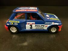 VINTAGE BBURAGO Renault 5 TURBO Philips Autoradio RALLYE CAR 1/43~ MADE IN ITALY