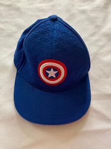 Marvel's Avengers Kids Captain America Hat Avengers Blue Youth Shield