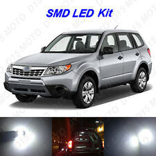 10x White LED Interior Bulbs + Reverse + Tag Light for 2009-2013 Subaru Forester