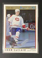 1991-92 O-Pee-Chee Premier John Leclair Rookie Card MINT #105 Canadiens RC