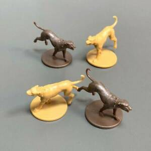 4PCS Dog Miniatures From Zombicide Black Plague Green Horde Board Game Play Toys