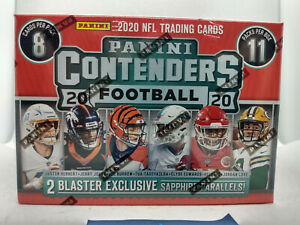 2020 Panini Contenders FANATICS EXCLUSIVE NFL Football Cards 11 PACK Blaster Box