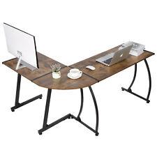 L Shaped Desk Corner Computer Gaming Laptop Table Workstation Home Office