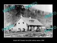 OLD LARGE HISTORIC PHOTO OF KEEFERS BC CANADA, THE RAILWAY STATION c1900