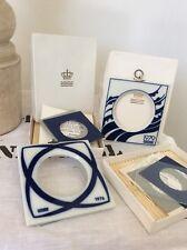 Set Of 2 Royal Copenhagen Porcelain Foto Frames, All Complete& Box