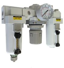 "PneumaticPlus Compressed Filter Regulator Lubricator 3/4"" NPT SAU4000M-N06DG R"