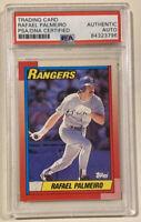 1990 Topps RAFAEL PALMEIRO Signed Autographed Baseball Card PSA/DNA #755