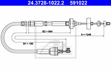 Seilzug Kupplungsbetätigung - ATE 24.3728-1022.2