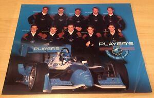 """1995 players racing team 8""""x10"""" Promo Racing Card"""