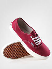NEW VANS AUTHENTIC VINTAGE TIBETAN RED MAROON CANVAS SHOES MENS SZ 13 NIB ERA