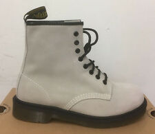 DR. MARTENS 1460 OFF WHITE HI SUEDE WP   BOOTS SIZE UK 6
