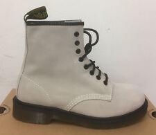 Dr. Martens 1460 Off White Hi Suede WP Stiefel Größe UK 6