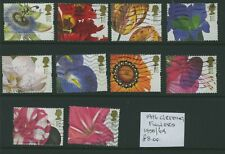 Great Britain 1996 Greetings - Flowers Booklet Stamps set #1956/64 Used