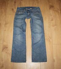 VTG Blue Denim LEVI'S Zip Stonewashed Distressed Bootcut Ladies Jeans W 28 L 31