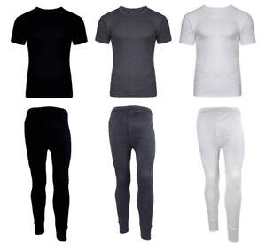 Unisex Kids Boys Girls Thermal Long Johns Set T-Shirt Bottom Warm Winter 4-11 UK