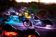 288 LED Motorcycle Neon Accent Glow Light Kit,20 Strips, Color Changing w/Remote