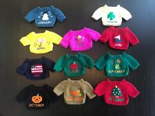 Doll Teddy Bear Knit Sweaters 12 Months of Year - Missing February