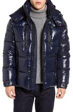 Sam 7558 Men's Navy Blue Eclipse Hooded Goose Down Puffer Jacket Size M $395