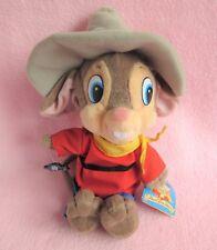 "American Coda FEIVEL va West Mouse Giocattolo Morbido Peluche Cowboy TAG 1991 APPLAUSI 14"""