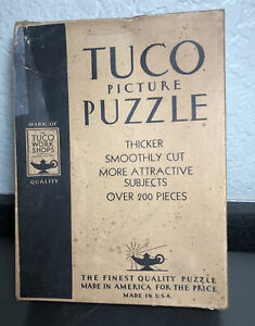"VTG 1930'S TUCO PICTURE PUZZLE - ""INDIAN SUMMER"" - TUCO WORK SHOPS, LOCKPORT NY"