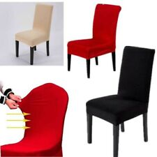 Stretch Spandex Dining Chair Covers  Seat Cover Decor Slipcovers Wedding Party