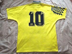 RARE TOTTENHAM Hotspur  #10 LINEKER 1991 1995 Away Football Shirt  Jersey UMBRO